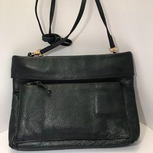 Vintage black leather Carlos D'Santi crossbody.